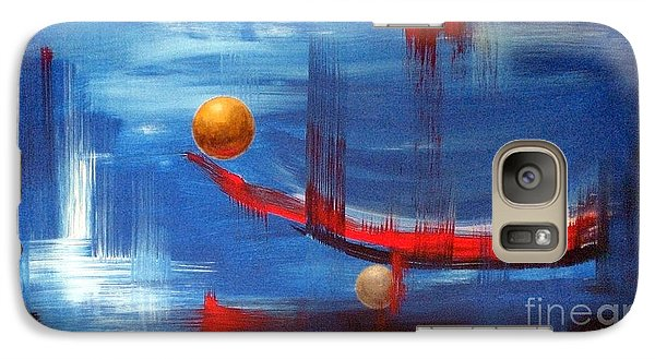 Galaxy Case featuring the painting Dream Ship by Arturas Slapsys