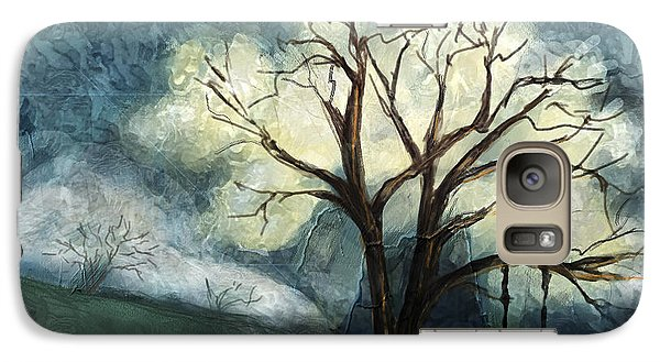 Galaxy Case featuring the painting Dream Tree by Annette Berglund