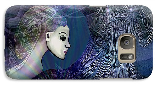 Galaxy Case featuring the digital art 1101 - Dream Voyage - 2017 by Irmgard Schoendorf Welch