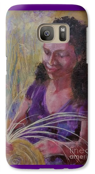 Galaxy Case featuring the painting Dream Weaver by Gertrude Palmer