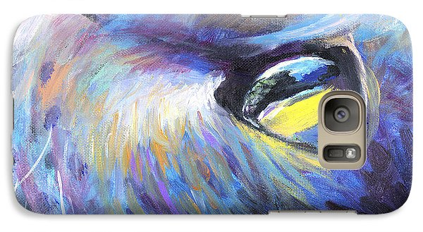 Dreamer Tubby Cat Painting Galaxy S7 Case
