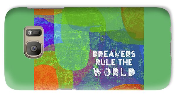 Galaxy Case featuring the painting Dreamers Rule by Lisa Weedn