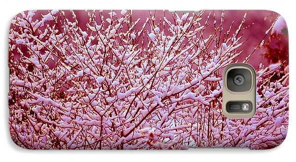 Galaxy Case featuring the photograph Dreaming In Red - Winter Wonderland by Susanne Van Hulst