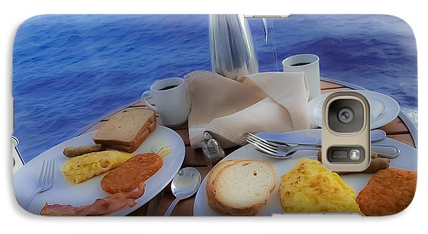 Galaxy Case featuring the photograph Dreaming Of Breakfast At Sea by DigiArt Diaries by Vicky B Fuller