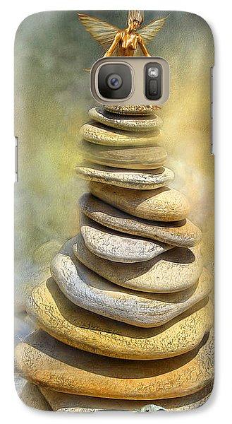 Fairy Galaxy S7 Case - Dreaming Stones by Carol Cavalaris
