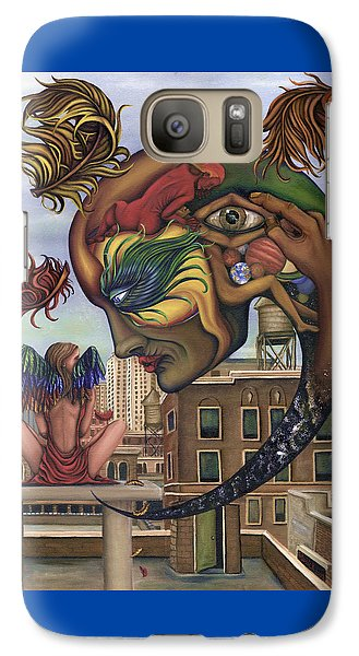 Galaxy Case featuring the painting Dreams Lost The Molting by Karen Musick