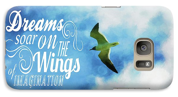 Galaxy Case featuring the photograph Dreams On Wings by Jan Amiss Photography