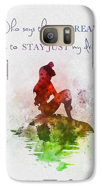 Mermaid Galaxy S7 Case - Dreams by Rebecca Jenkins