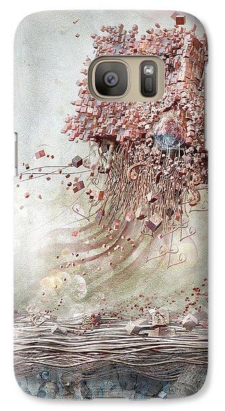 Galaxy Case featuring the digital art Dreamscape Flow No.1 by Te Hu