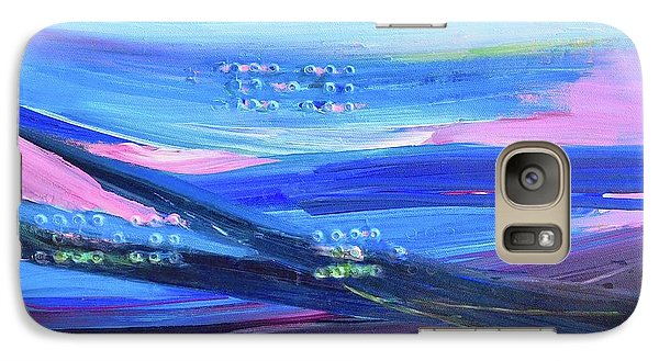 Galaxy Case featuring the painting Dreamscape by Irene Hurdle