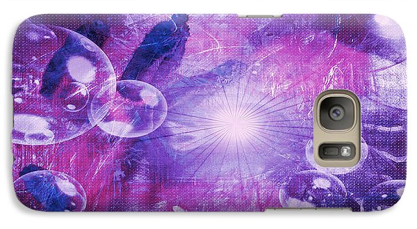 Galaxy Case featuring the digital art Flower Fractals  by Fine Art By Andrew David