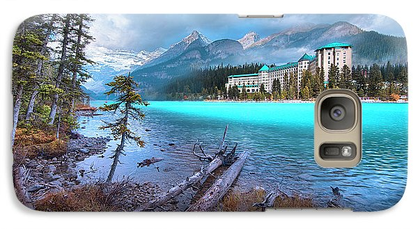 Galaxy Case featuring the photograph Dreamy Chateau Lake Louise by John Poon