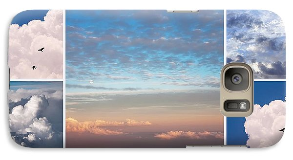 Galaxy Case featuring the photograph Dreamy Clouds Collage by Jenny Rainbow