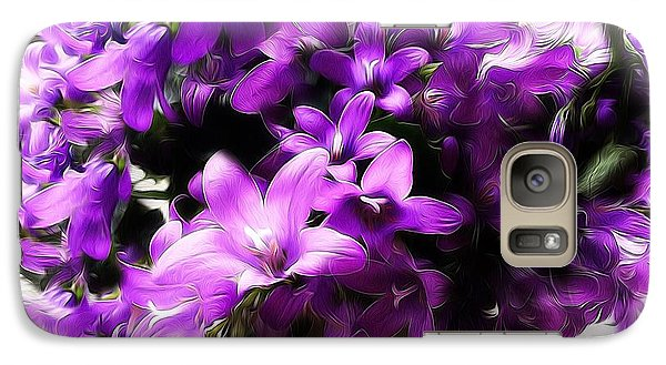 Galaxy Case featuring the mixed media Dreamy Flowers by Gabriella Weninger - David