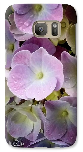 Galaxy Case featuring the photograph Dreamy Hydrangea by Mimulux patricia no No