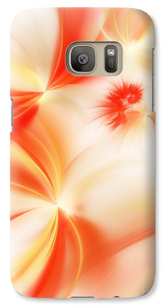 Galaxy Case featuring the digital art Dreamy Orange And Creamy Abstract by Andee Design