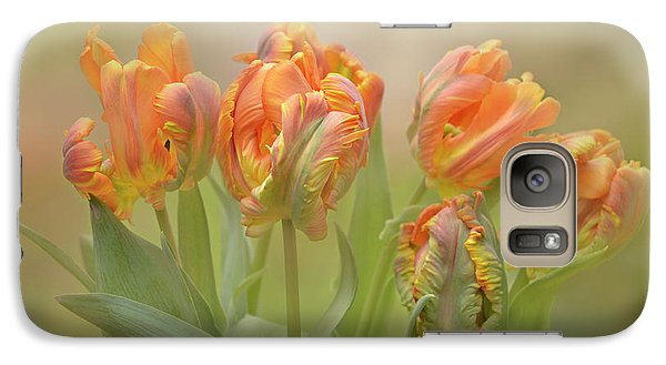 Galaxy Case featuring the photograph Dreamy Parrot Tulips by Ann Bridges
