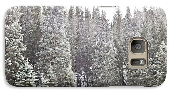 Galaxy Case featuring the photograph Dreamy Pine Snow Forest Landscape by Andrea Hazel Ihlefeld