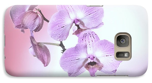Galaxy Case featuring the photograph Dreamy Pink Orchid by Linda Phelps