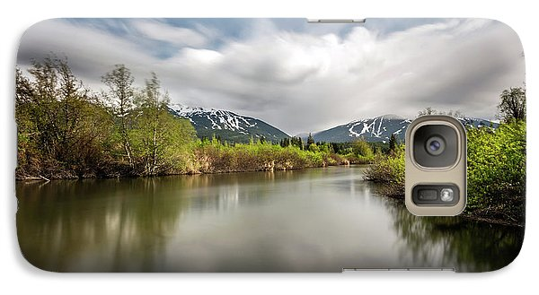 Galaxy Case featuring the photograph Dreamy River Of Golden Dreams by Pierre Leclerc Photography