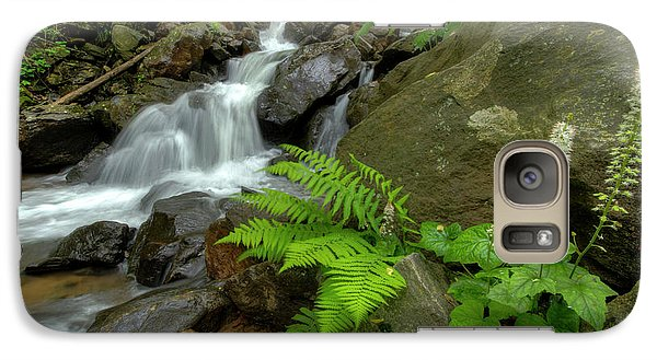 Galaxy Case featuring the photograph Dreamy Waterfall Cascades by Debra and Dave Vanderlaan