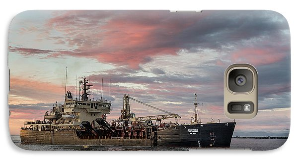 Galaxy Case featuring the photograph Dredging Ship by Greg Nyquist