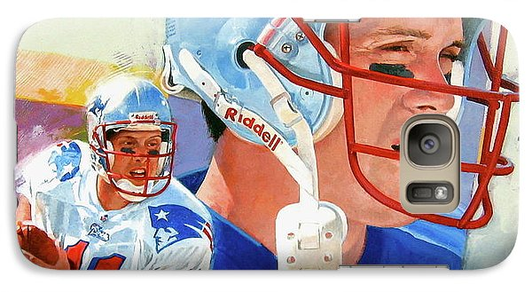 Galaxy Case featuring the painting Drew Bledsoe by Cliff Spohn