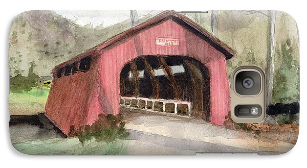 Drift Creek Covered Bridge Watercolor Galaxy S7 Case