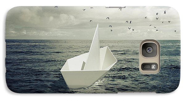 Galaxy Case featuring the photograph Drifting Paper Boat by Carlos Caetano