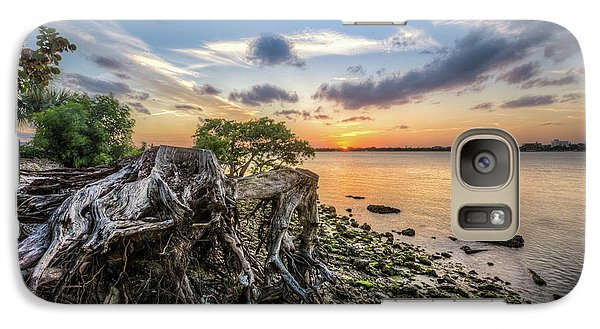 Galaxy Case featuring the photograph Driftwood At The Edge by Debra and Dave Vanderlaan