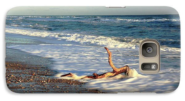 Galaxy Case featuring the photograph Driftwood In The Surf by Roupen  Baker