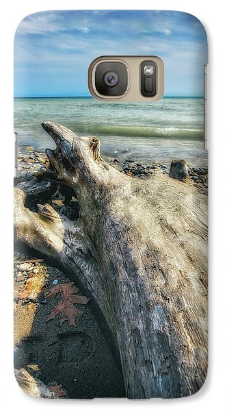 Galaxy Case featuring the photograph Driftwood On Beach - Grant Park - Lake Michigan Shoreline by Jennifer Rondinelli Reilly - Fine Art Photography