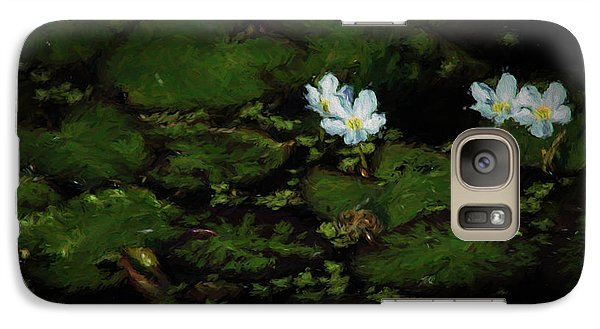 Galaxy Case featuring the photograph Drinking Bee 2 by Travis Burgess
