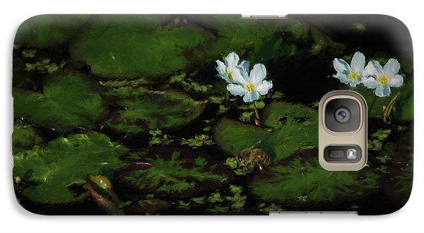 Galaxy Case featuring the photograph Drinking Bee 3 by Travis Burgess