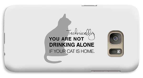 Cat Galaxy S7 Case - Drinking With Cats by Nancy Ingersoll