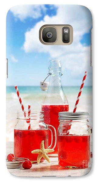 Raspberry Galaxy S7 Case - Drinks At The Beach by Amanda Elwell