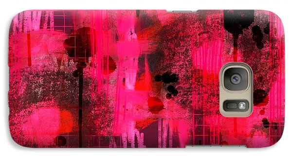 Galaxy Case featuring the digital art Dripping Pink by Lisa Noneman
