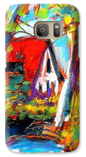 Galaxy Case featuring the painting Driveway Revisited by Les Leffingwell