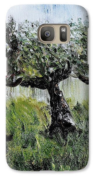 Galaxy Case featuring the painting Drizzle by Evelina Popilian
