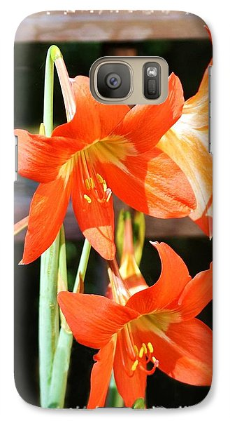 Galaxy Case featuring the photograph Drooping Blooms Of Orange by Ellen O'Reilly