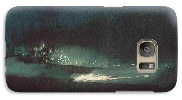 Galaxy Case featuring the painting Drop Of Water by Annemeet Hasidi- van der Leij