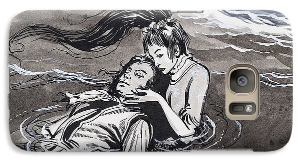 Mermaid Galaxy S7 Case - Drowned Man Being Assisted By A Mermaid by English School
