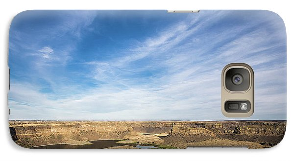 Galaxy Case featuring the photograph Dry Fall, Washington by Jingjits Photography