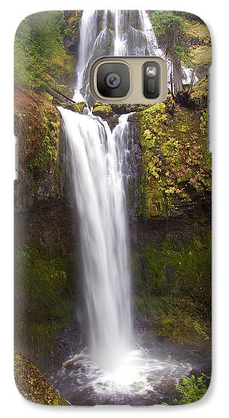 Galaxy Case featuring the photograph Dual Cascade by Todd Kreuter