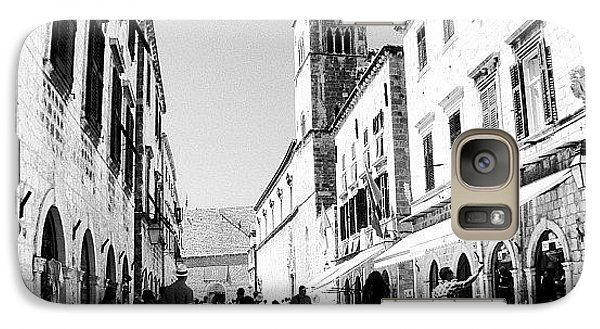 #dubrovnik #b&w #edit Galaxy Case by Alan Khalfin