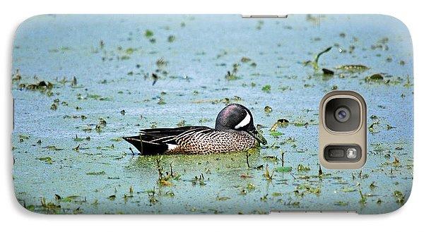 Galaxy Case featuring the photograph Duck Bluegreen by Teresa Blanton