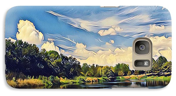Galaxy Case featuring the photograph Duck Creek by Diane Miller