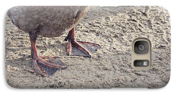Galaxy Case featuring the photograph Duck Feet In The Sand by Cindy Garber Iverson