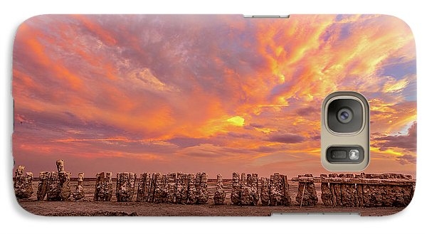 Galaxy Case featuring the photograph Ducks In A  Row by Peter Tellone