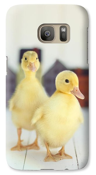 Galaxy Case featuring the photograph Ducks In The Neighborhood by Amy Tyler